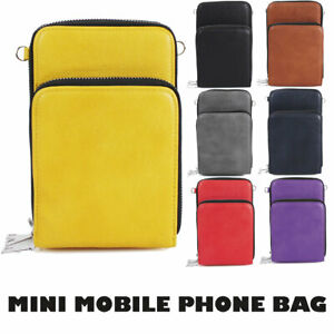 Ladies Cross-body Mobile Phone Shoulder Bag Pouch Case Handbag Purse Wallet UK