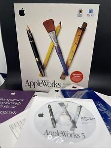 Vintage 1998 Apple Apple Works Application For Mac OS & Windows 95/ NT 4.0