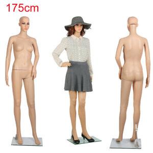 Full Body Dummy Mannequin Retail Dressmaker Lady Female Shop Window Display UK