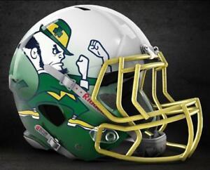 2 Notre Dame Fighting Irish Retro Football Helmet 5x4 Vinyl Stickers Car Decal