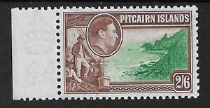 PITCAIRN ISLAND SG8 THE 1940 GVI 2/6d (the top value) SUPERB MNH MARGINAL C.£17