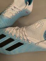 Adidas X 19.1 Junior FG Football Boots Cyan White SPEEDMESH UK 3 B-WARE F35684