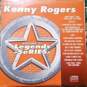 LEGENDS KARAOKE CDG KENNY ROGERS COUNTRY OUTLAW #21 14 SONGS LADY,LUCILLE
