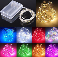 100LEDs Christmas AA Battery LED Copper Wire String Lights Party Xmas Tree Decor