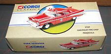 Corgi Toys Classics 1:43 CHEVROLET 1957 BEL-AIR PENSACOLA FIRE CHIEF Diecast Car