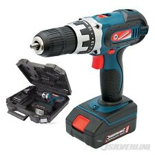 HEAVY DUTY SILVERLINE 18V LITHIUM ION CORDLESS DRILL DRIVER SCREWDRIVER IN CASE