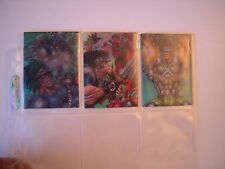 PROPHET  TRADING  CARDS SET  3 MORPH  CARDS  ANIMEES     RARES  1996 TBE