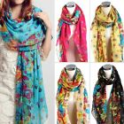 Hot Sale!! Fashion Girls/Lady Long Cotton Voile Floral Shawl Scarf Wrap Stole