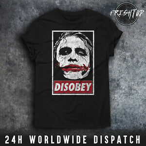 Joker T Shirt Disobey Obey Batman Why So Serious Suicide Squad Harley Quinn