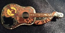 Hard Rock Cafe Washington DC Buddy Holly Gold Dead Rocker Acoustic Guitar 10366
