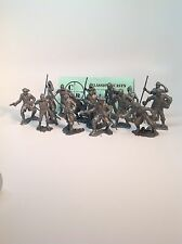 Recast Marx 60mm Pirates. 16 Pirates In 7 Poses. Cast In Pewter Colored Plastic
