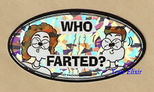 WHO FARTED? Face EyesFun Holographic Case Board Sticker