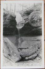 1936 Realphoto PC-Boulder Canyon-Turky Run-Marshall, IN