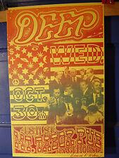 SCARCE PORTLAND '96 PSYCH Concert Poster BRUCE WEBER ARTWORK  DEEP Mt Tabor Pub