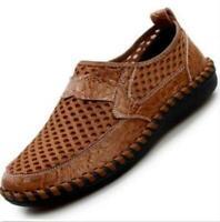 Men's Genuine Leather Fisherman Beach Sports Sandals Waterproof Shoes Summer Hot