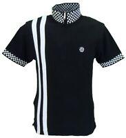 Ska & Soul Mens Black Chequerboard Twin Stripe Cycling Shirt