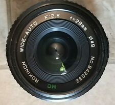 Vintage ROKINON 28mm F 2.8 lens MC Wide-Auto