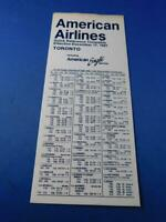 AMERICAN AIRLINES QUICK REFERENCE TIMETABLE DECEMBER 198 TORONTO AMERICAN EAGLE