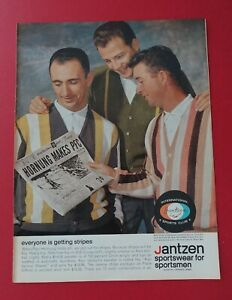 1962 Jantzen Sportwear - Hornung, Cousy & Venturi / Black & White Scotch AD