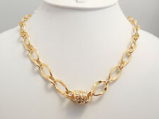 NEW KIRKS FOLLY CHAIN OF EVENTS LINK CHAIN MAGNETIC NECKLACE GOLDTONE