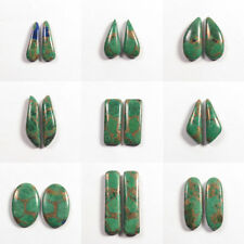Gorgeous COPPER AZURITE MALACHITE 1 Pair Choose From Variation #0110