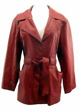 Renee Raouel Women's Plus Size 1X Jacket PU Polyurethane Deep Red Faux Leather