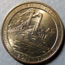 *UNCIRCULATED, 2011  VICKSBURG QUARTER DOLLAR COIN, Beautiful Luster NICE COIN