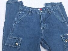 New listing Vtg Tommy Hilfiger Mom Jeans Women's Sz 7 Flag Cargo 90s / hip hop / button fly