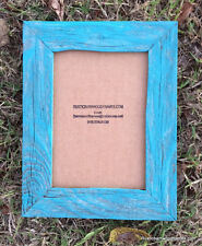 5x7 Flat Turquoise Wash rustic barnwood barn wood primitive picture photo frame