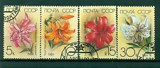 Russie - USSR 1989 - Michel n. 5931/34 - Les fleurs du jardin: Lys - obl.