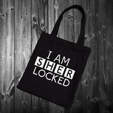 I AM SHERLOCKED - Tote Bag Funny holmes watson Womens gift present 38x42cm