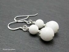 Hook Natural Round Agate Fine Earrings