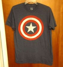 CAPTAIN AMERICA shield design med tee plain Marvel Comics classic shirt retro