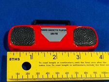 1980s Boombox Mini Magnet Portable Dollhouse Fridge Radio Cassette Player Vtg