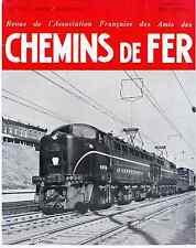 Chemins de fer n°208 Janvier-Février 1958, revue AFAC