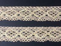 laverslace White and Blue Picot Edge Lace Cotton Cluny Crochet Trim 1cm