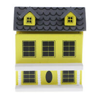 MagiDeal 1:12 Miniature Wooden Hut House Toy Dolls House Accessories Yellow