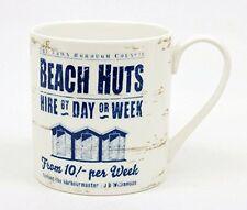 Martin Wiscombe Beach Hut Mug Coffee Tea Nautical Blue White Porcelain China