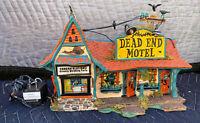 Dept. 56 Snow Village Halloween Dead End Motel 55377 Lights Up Blinks RETIRED