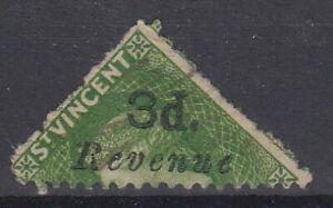 SAINT VINCENT Revenues: 1881-2 3d on half bisected - 31217