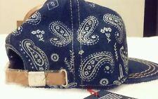 TRUE RELIGION HAT BLUE ADJUSTABLE STRAPBACK WHITE Bandana Baseball Cap NWT $85