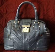 Juicy Couture Large Leather Colonial Blue Doctor Bag