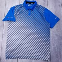 Nike Golf Tour Performance Polo Shirt Mens Large Blue Dri-Fit Short Sleeve P134