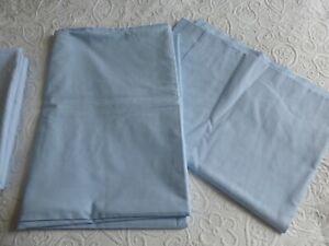 Single Flat Sheets (Pair). Light Blue.