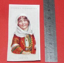 CIGARETTES CARD OGDEN'S 1923 CHILDREN OF ALL NATIONS N°17 GREECE GRECE HELLAS