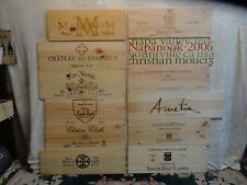 12  LARGE WOOD WINE PANEL END AS PICTURED WALL ART  ITALY NAPA VALLEY LOT 397