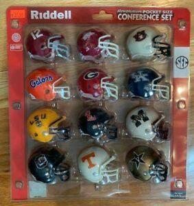 Riddell pocket pro helmets SEC complete set TRADITIONAL style  Alabama LSU etc