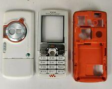 Genuine Graded Sony Ericsson W800i Cream / Orange Housing Cover Fascia & Keypad