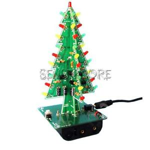 Christmas Trees LED DIY Kit Professional Red Green Flash LED Circui New