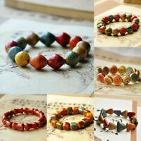 Chain Mens Ceramic Summer Bracelet Beads Charm Square Round Women Hand Jewelry